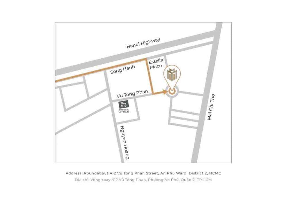 Bản đồ chỉ đường đến khu nhà mẫu Masterise Homes