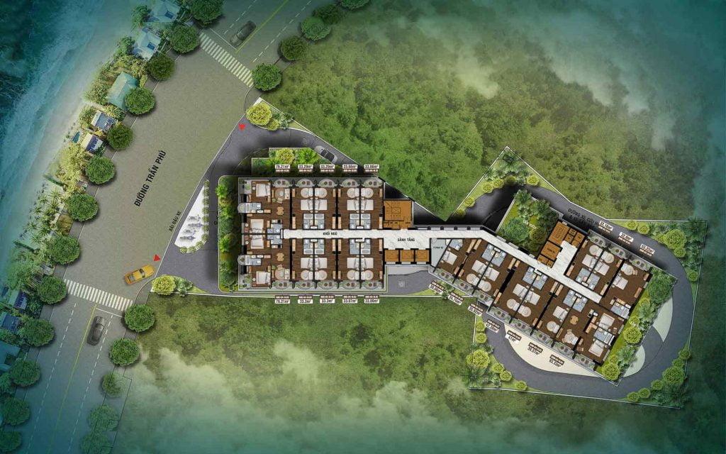 Mặt bằng căn hộ Oyster Gành Hào tầng 4-24
