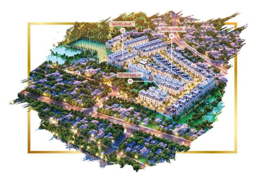 Hình tổng thể dự án nhà phố biệt thự Amelie Villa Phú Mỹ Hưng