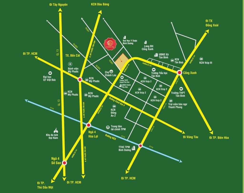 Bản đồ vị trí khu đô thị