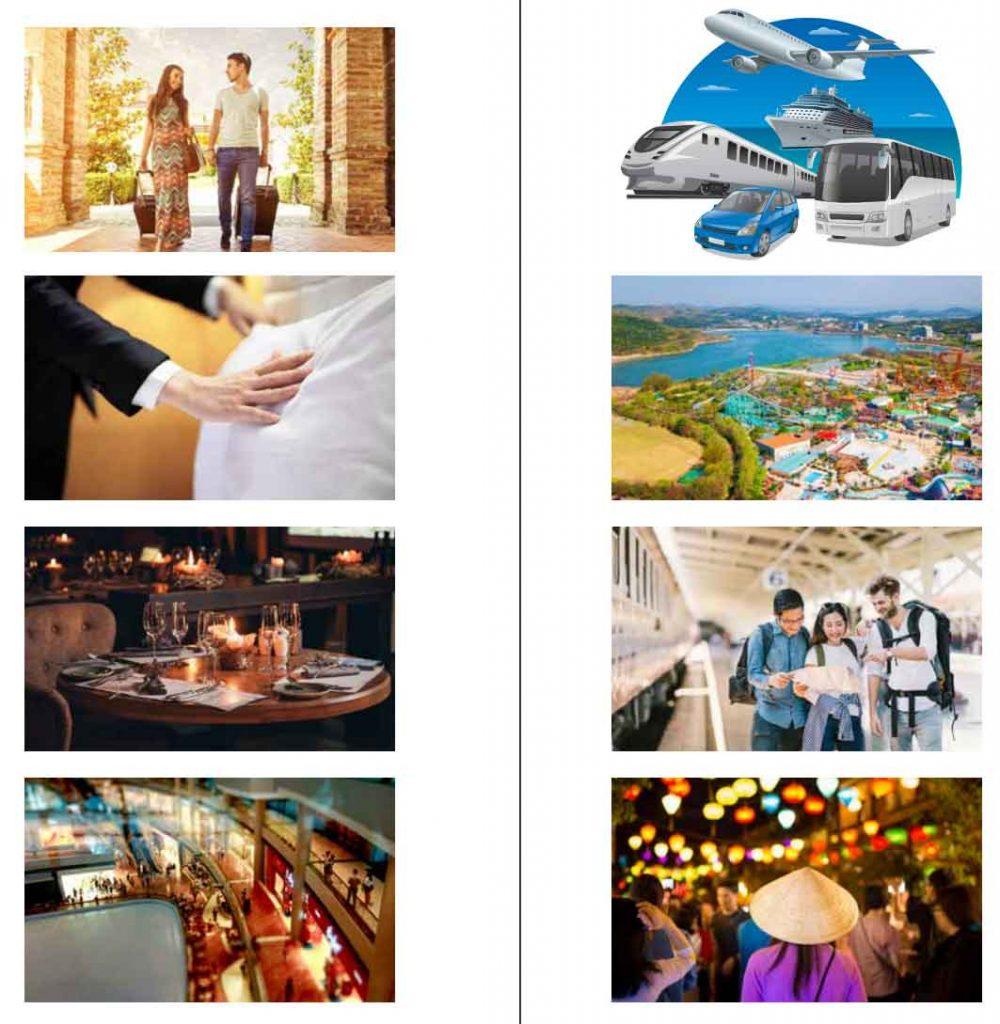 Hình ảnh minh họa 8 loại hình dịch vụ NovaTourism của tập đoàn Novaland Group