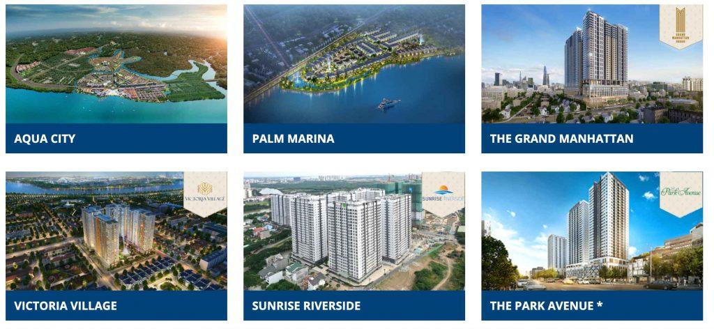 Danh sách các dự án Novaland đã bàn giao trong năm 2020