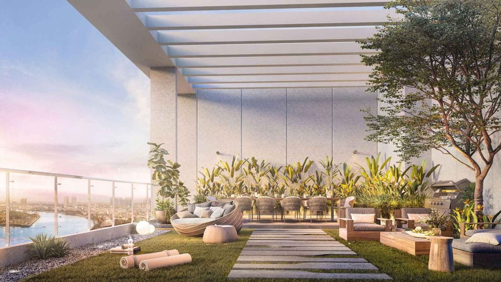 1 góc vườn The Penthouse Thủ Thiêm