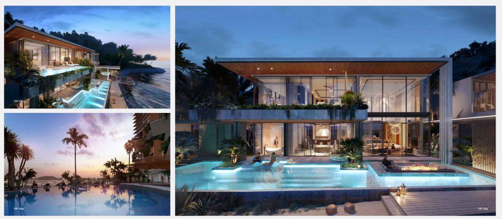 Hình phối cảnh khu Gran Meliá Signature Villa trong dự án Vega City Nha Trang