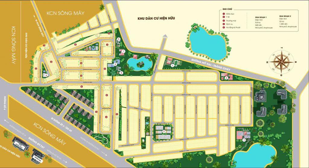 Bản đồ phân lô của dự án PNR Estella