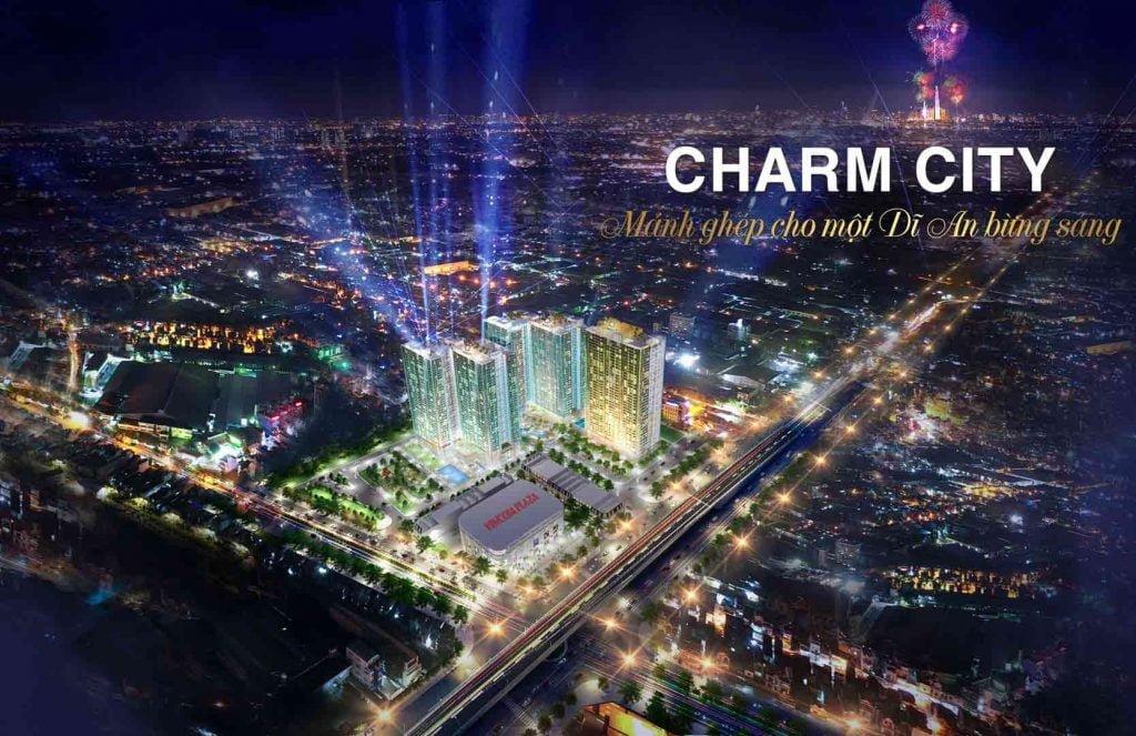 Hình phối cảnh dự án Charm City Bình Dương