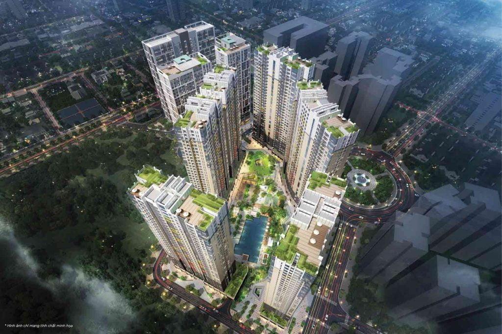 Hình phối cảnh tổng thể của The Palace Residence do Novaland Group đầu tư xây dựng