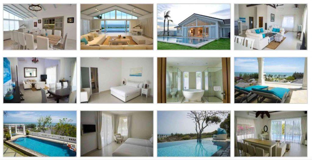 Hình ảnh thực tế về các phòng và biệt thự của khu nghỉ dưỡng