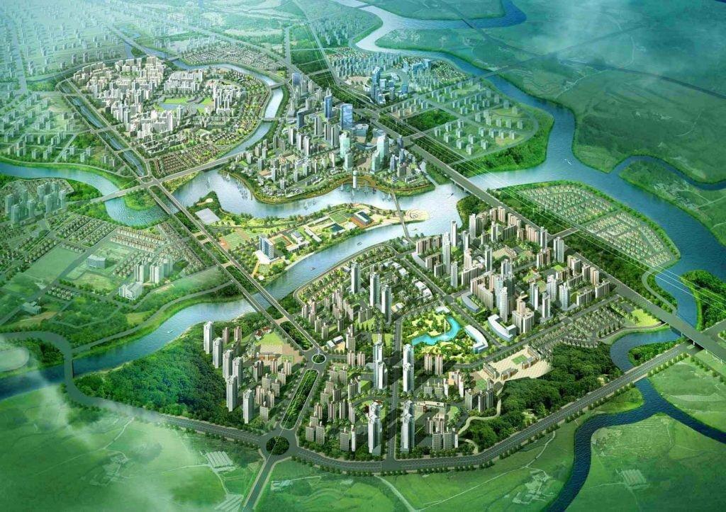 Toàn cảnh khu đô thị ZeitGeist của tập đoàn GS E&C tại Nhà Bè thành phố Hồ Chí Minh