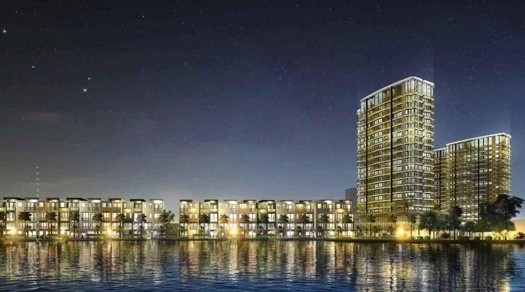Hình phối cảnh của dự án bên sông Sài Gòn