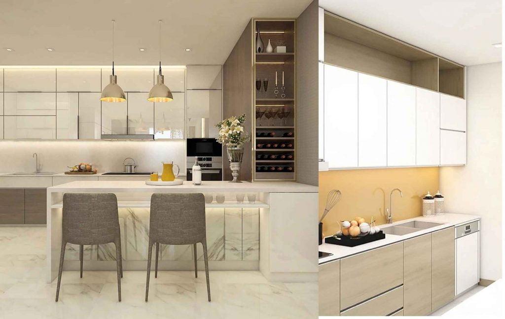 Nhà bếp căn hộ Sunwah Pearl hiện đại và tiện nghi