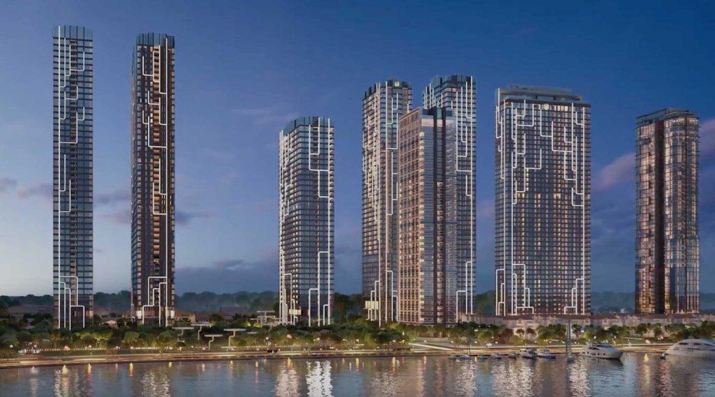 Hình phối cảnh các tòa tháp căn hộ Grand Marina Saigon của chủ đầu tư Masterise Group