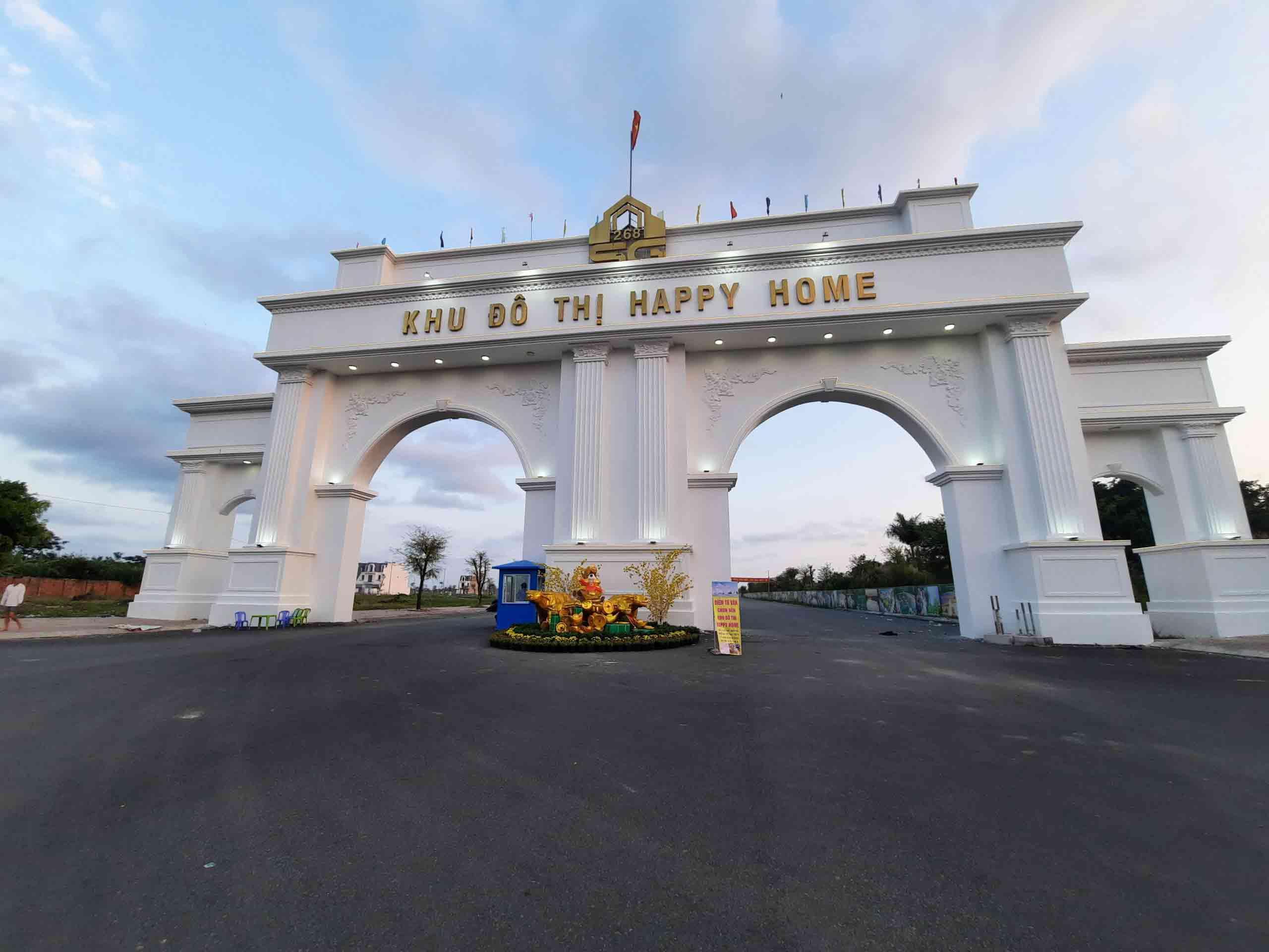 Cổng chào khu đô thị Happy Home Cà Mau