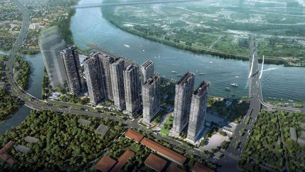 Hình phối cảnh dự án khu căn hộ sang đắt giá nhất Sài Gòn