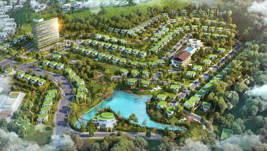 Toàn cảnh dự án Ivory Villas & Resort Hòa Bình