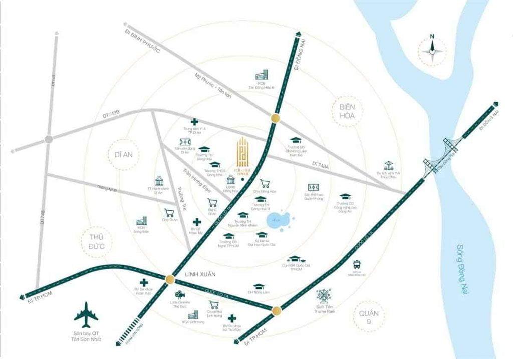 Các dịch vụ tiện ích ngoại khu dành cho cư dân dự án