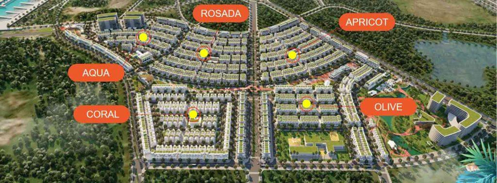5 phân khu chính của dự án