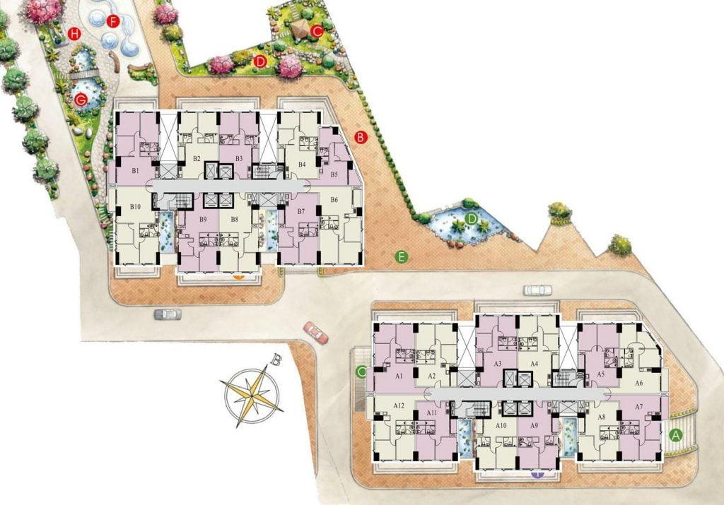 Mặt bằng căn hộ Paris Hoàng Kim cho thuê hoặc bán
