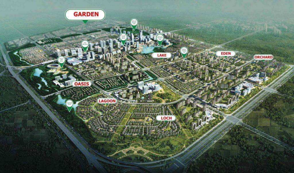 Sơ đồ tổng thể khu đô thị SwanPark Đồng Nai