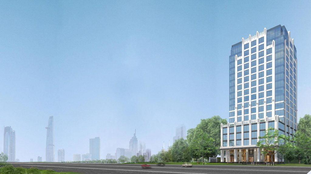 Hình phối cảnh toà văn phòng hạng A Pearl 5 Tower trên đường Lê Quý Đôn