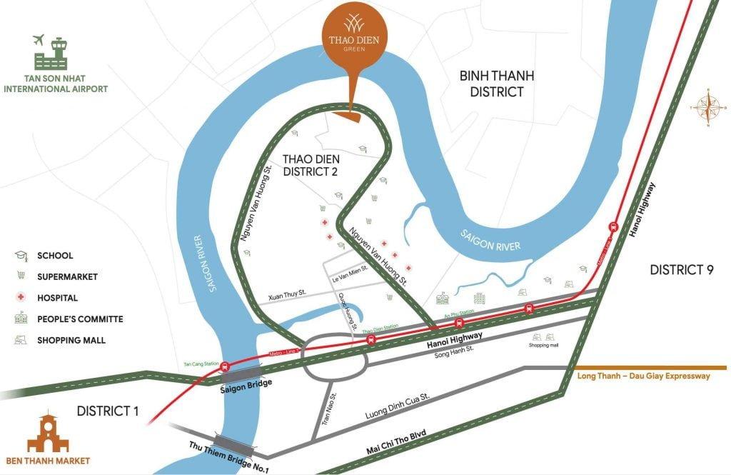 Bản đồ vị trí dự án tại phường Thảo Điền Quận 2