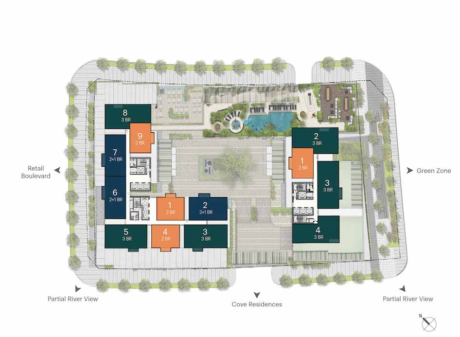 Mặt bằng căn hộ Narra Residences