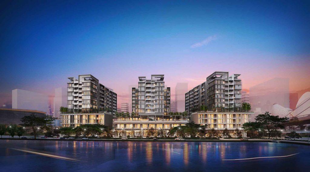 Hình phối cảnh 3 toà tháp căn hộ The Galleria Residence nằm trong dự án The Metropole Thủ Thiêm