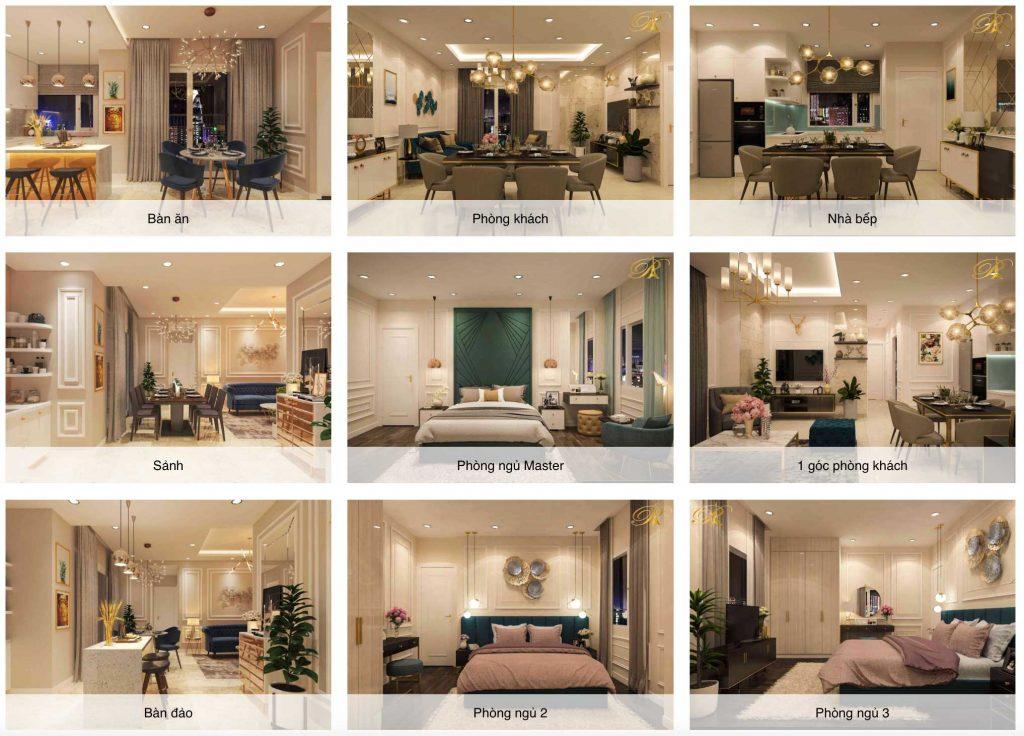 1 vài hình ảnh 3d về căn hộ Paris Hoàng Kim