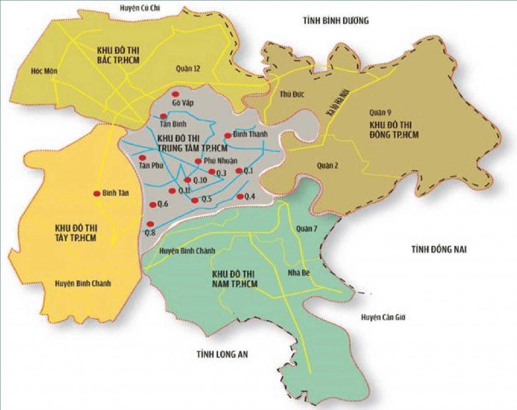 Bản đồ khu Tây Sài Gòn